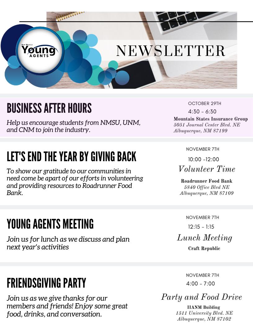 10.21 YA Newsletter