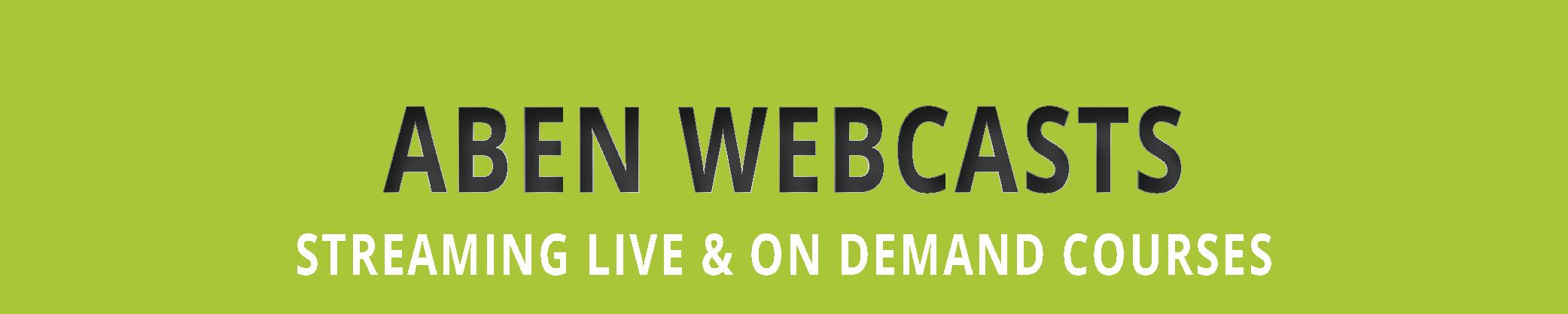 ABEN_Webcasts